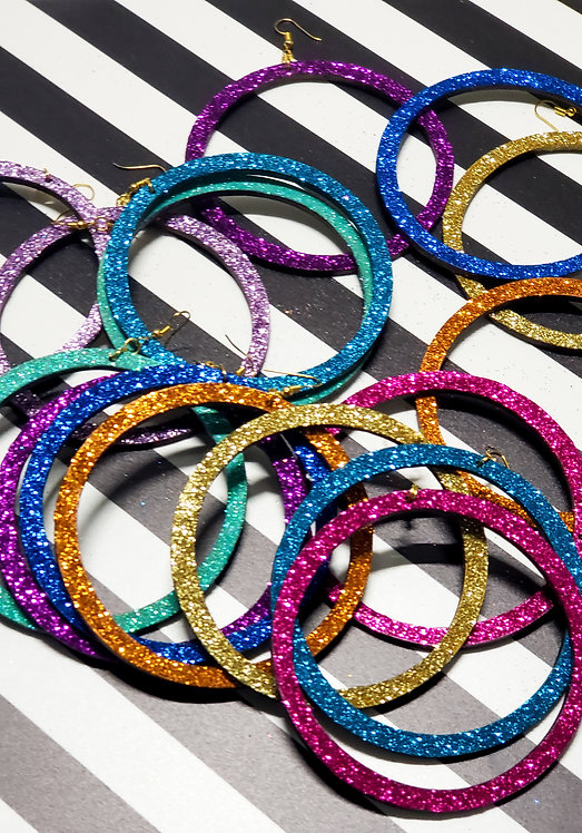 Glitter Candy Hoops (All Colors)