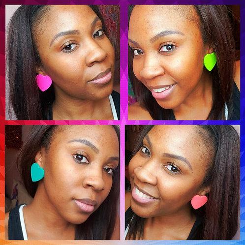 Spring Heart Stud Earrings