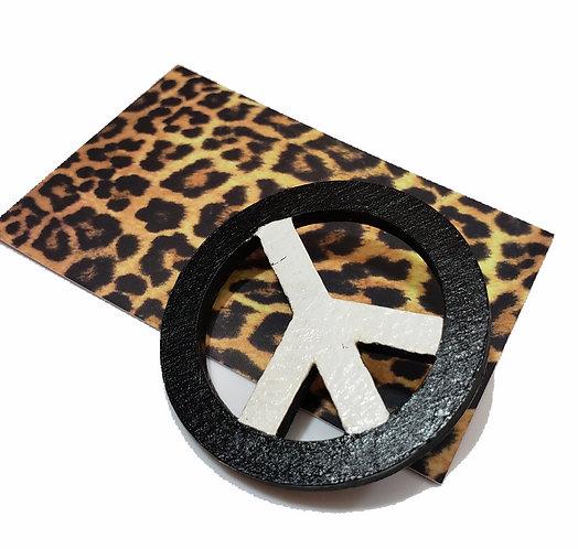 Peace Wheel Brooch Pin