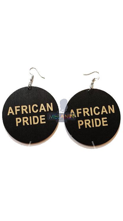 African Pride - Wooden Earrings