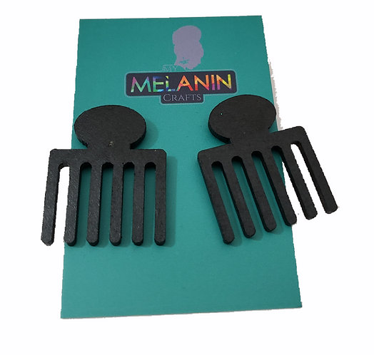 Egyptian Afro-pic Comb Earrings