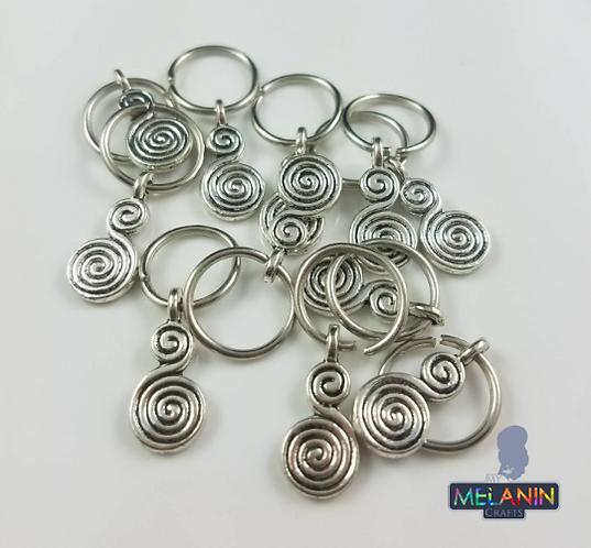 Double Spirals Hair Dred Cuffs Accessories