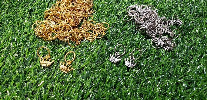 3D Crown- Hair Dred Cuffs Accessories (2 options)