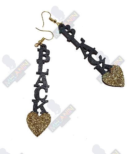 Black Heart Earrings