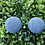 Thumbnail: Light Denim - Fabric Button Earrings