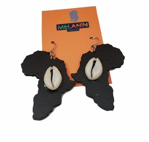 Africa Cowrie Shell Earrings