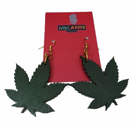 Green Plant Earrings