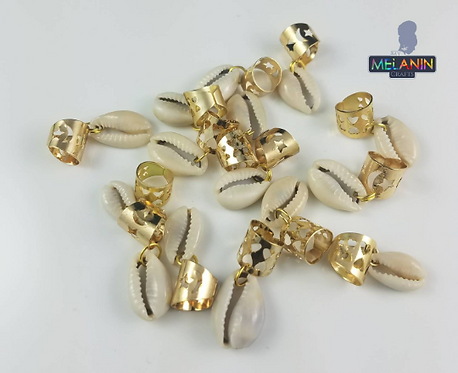Cowrie Shell Hair Dred Rings Accessories