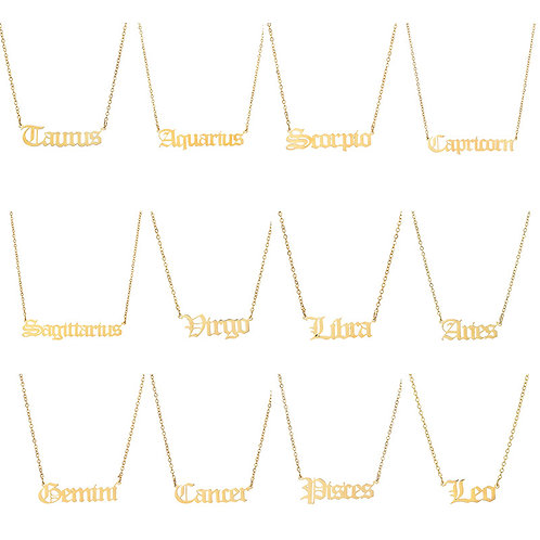 Zodiac Necklaces (Sterling Silver)