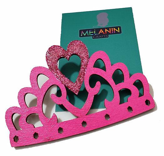 Pink Crown Brooch Pin
