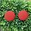 Thumbnail: Auburn Orange - Fabric Button Earrings