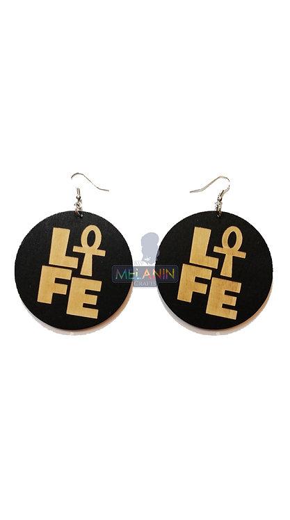 Ankh Life - Wooden Earrings