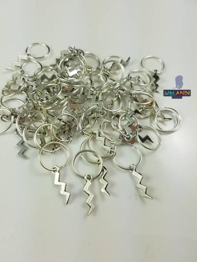 Lightening Bolt Hair Dred Cuffs Accessories