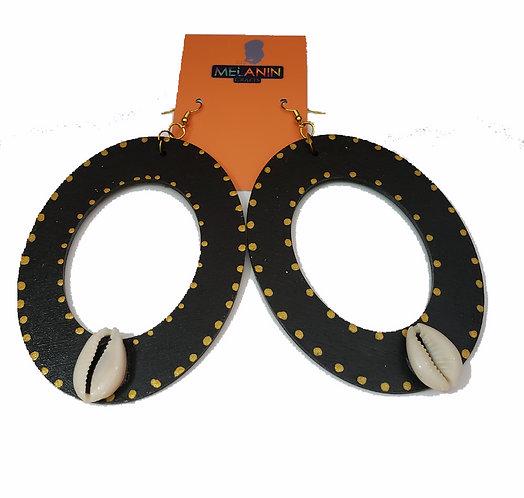 Cowrie Golden Drop Earrings