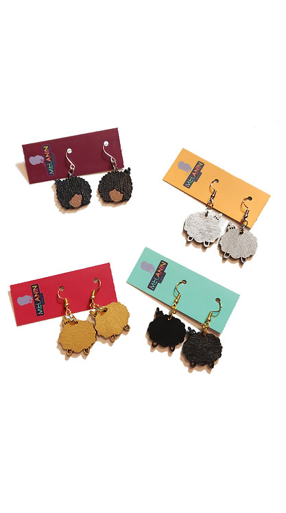 Mini Afro Girl Earrings