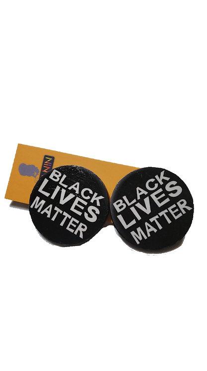 BLM Circle Black/White Earrings