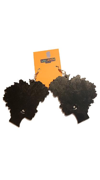 Afro Silhouette Earrings