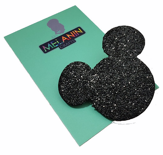 Mickey Mouse Glitter Brooch Pin