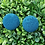 Thumbnail: Teal Thrills - Fabric Button Earrings