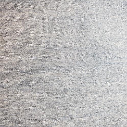 Light Denim - Fabric Button Earrings