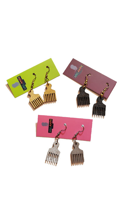 Mini Afro Picks Earrings