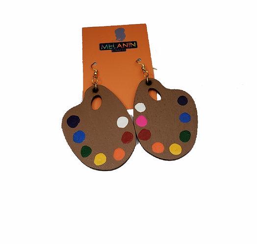 Paint Palette Earrings