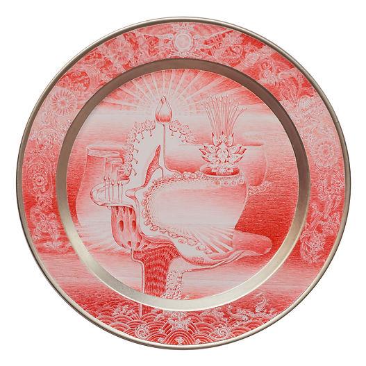 Artwork_Lotus in the religious meditatio n. Artist_Nguyễn Đức Hùng. Size_52,5x52,5cm. Mate