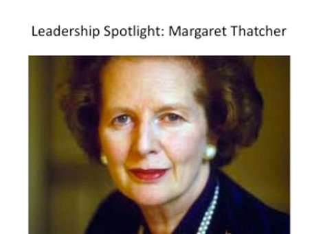 Leadership Spotlight: Margaret Thatcher