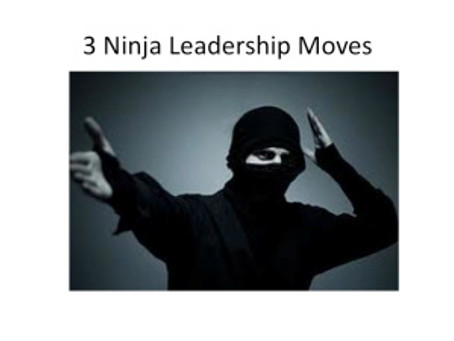 3 Ninja Leadership Moves