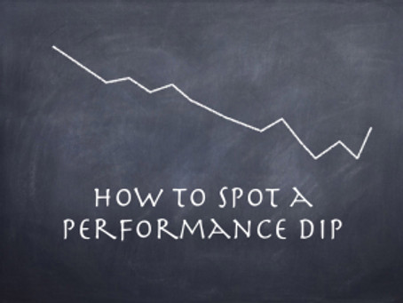How To Spot a Performance Dip