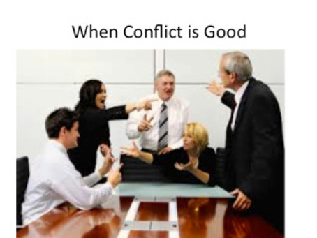When Conflict is Good