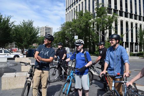 Downtown Bike Tour Participants