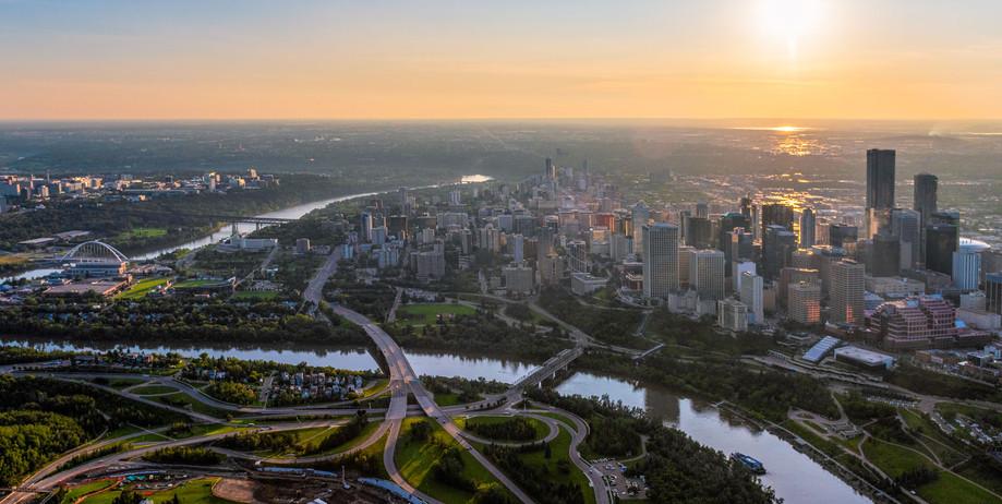 City of Edmonton Aerial Landscape