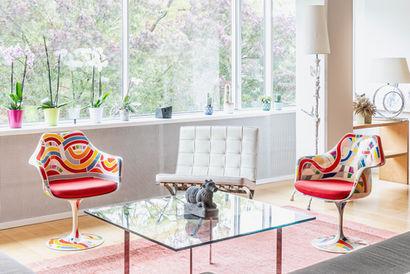 Tulip armchairs