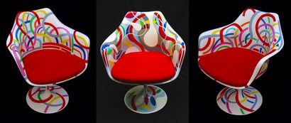 3 fauteuils Tulip