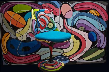 """Chaise Tulip Saarinen""""Furtive"""""""