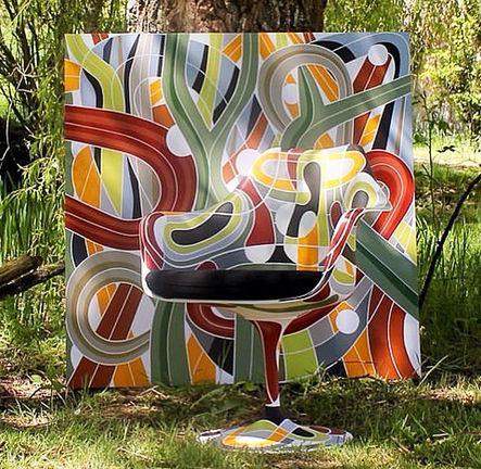 Fauteuil Tulip Knoll et Peinture