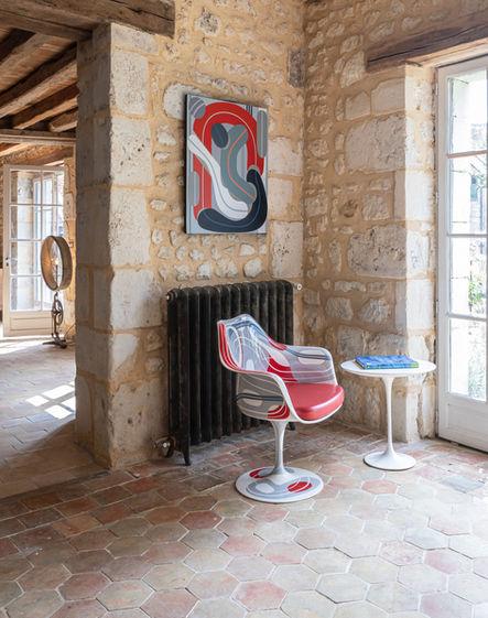 Fauteuil Tulip - Peinture et Guéridon Saarinen