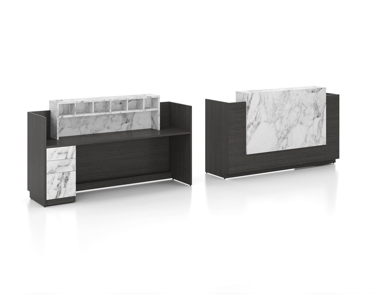Reception Desk Candex Custom Furniture Montreal