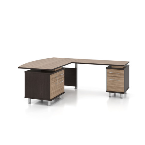 Single Pedestal Desk With Return