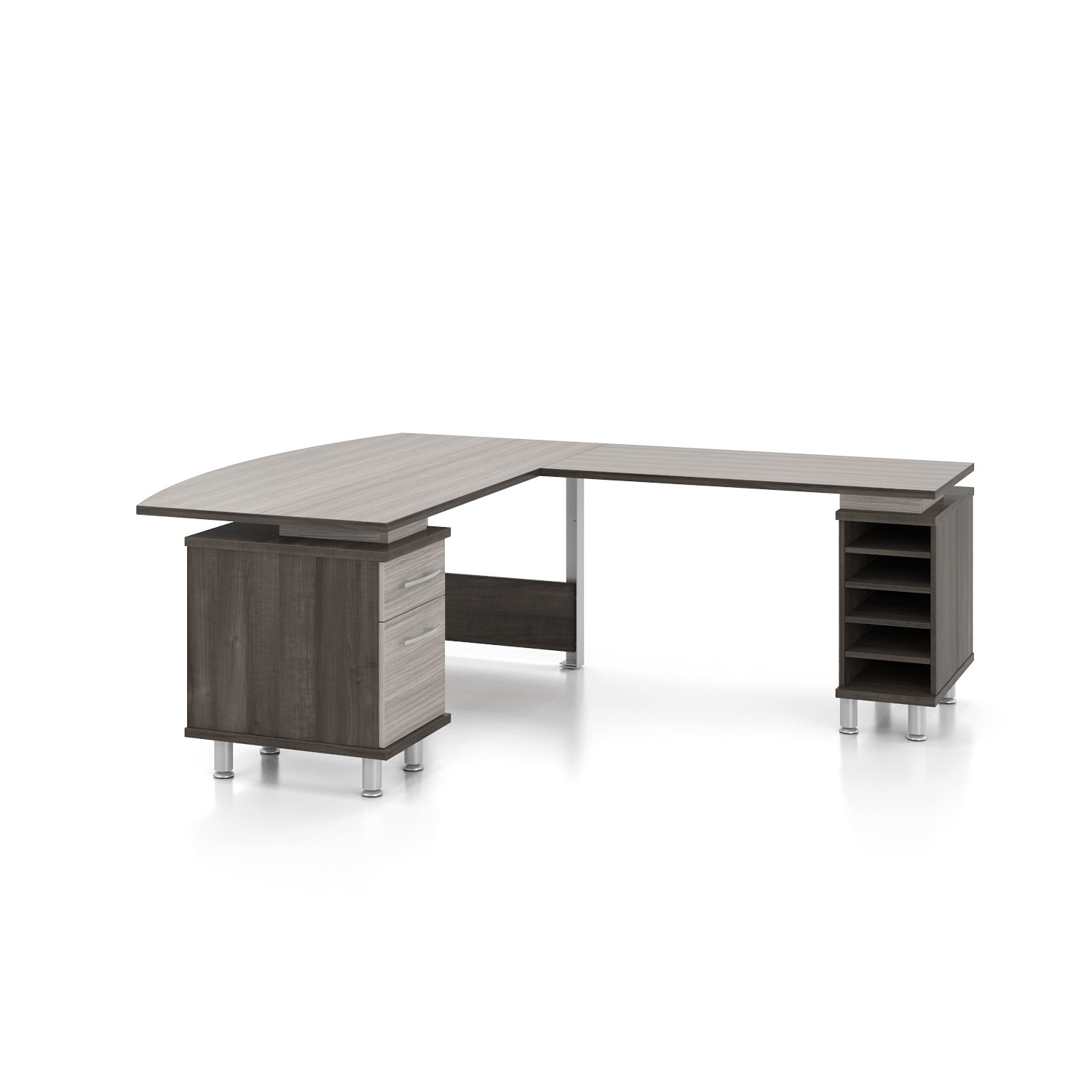 closeup zoom hero pedestal desk single icc fortress shot original lorell series right products business