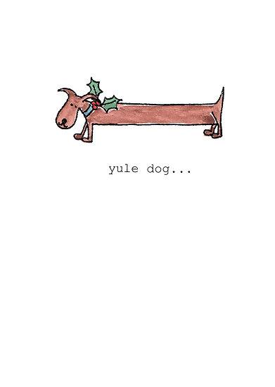 YULE DOG CARD
