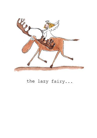 LAZY FAIRY CARD