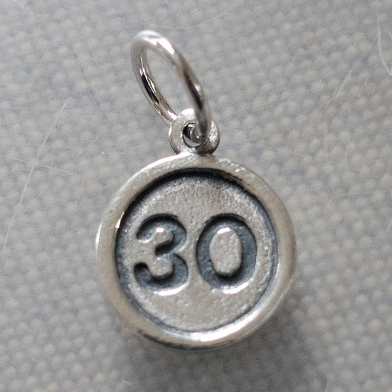 AGE ROAD SIGN CHARM