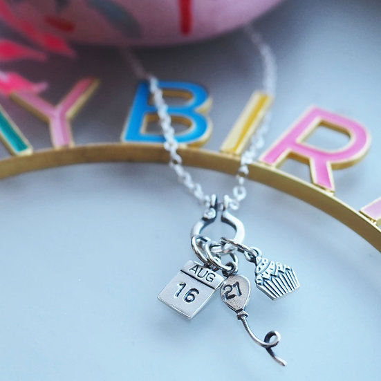 OLDER AND WISER CHARM NECKLACE