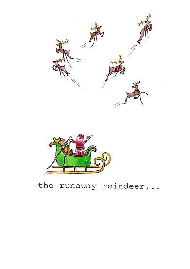 RUNAWAY REINDEER CARD