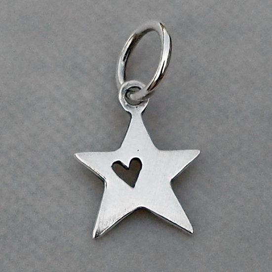 STAR WITH HEART CHARM
