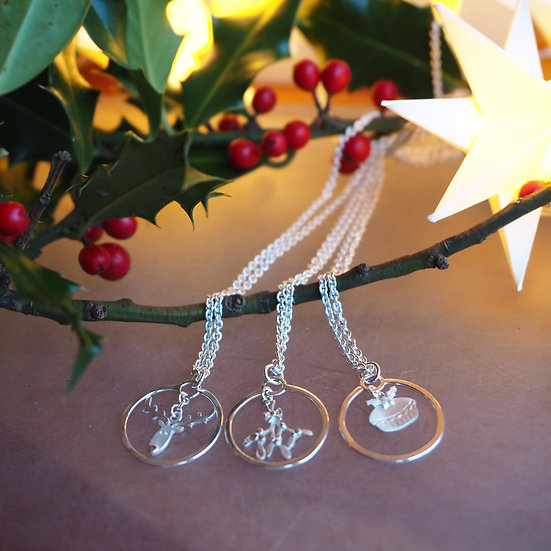 CHRISTMAS BAUBLE CHARM NECKLACE
