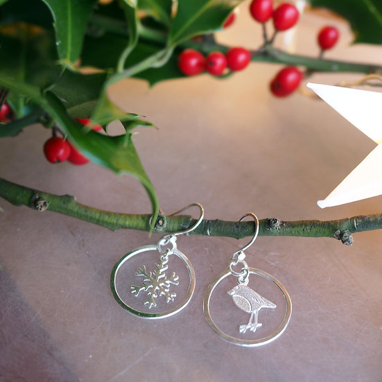 CHRISTMAS BAUBLE CHARM EARRINGS