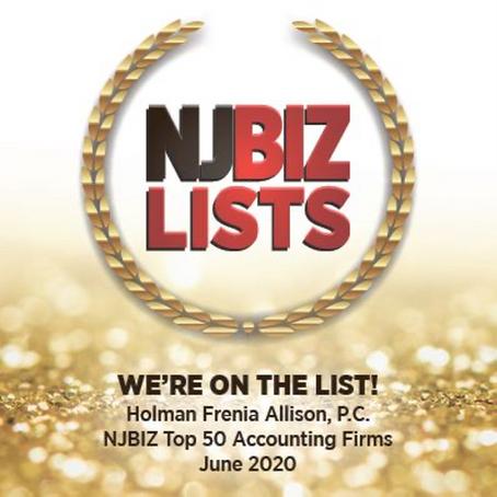 NJBIZ names HFA one of top 50 Accounting Firms